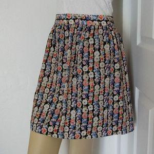 J.Crew Pleated Floral Mini Summer Skirt